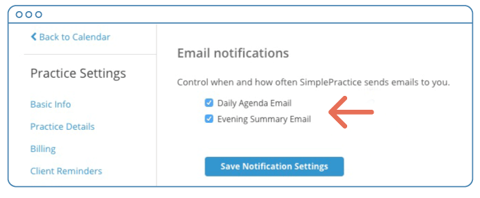 Check the Evening Summary Email box to begin receiving the Evening Summary Email