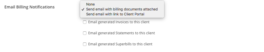 You can choose how the billing documents will be shared