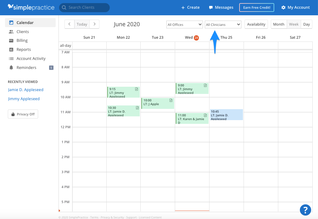 clinicianfilter.simplepractice.calendarhomepage.png