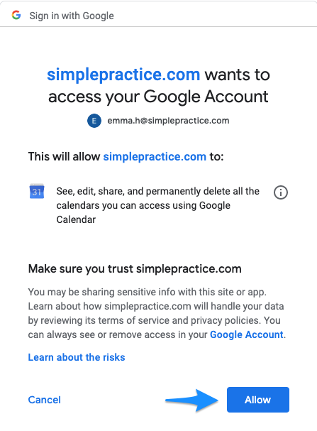 allowaccess.simplepractice.googlesync.png